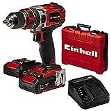 Einhell Taladro percutor atornillador inalámbrico TE-CD 18/50 Li-i BL Power X-Change...