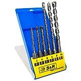S&R Brocas SDS Plus Pared Hormigón, Juego Brocas SDS Plus 6 piezas: 5,6,8 x 110mm;...