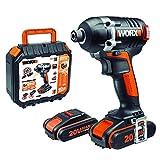 Atornillador de Impacto Brushless 20V 2Ah 2bat WORX WX292