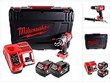 Milwaukee 4933464264 Taladro de Batera Combustible, Rojo y Negro