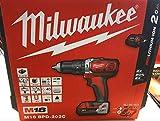 Milwaukee 4933443515 - M 18 bpd-202c taladro percutor 18v 2,0 ah litio 2 vel. 50 nm