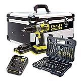 STANLEY FATMAX FMCK625D2F-QW - Taladro percutor 18V, 27.200 ipm, con 2 baterías de...