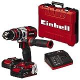 Einhell TE-CD 18 Li-i BL Power-X-Change - Taladro percutor inalámbrico 18V con 2...