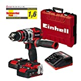 Einhell TE-CD 18 Li-i BL Power-X-Change - Taladro percutor inalámbrico 18V con 2...