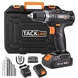 Taladro Atornillador 18 V TACKLIFE, 2 baterías de Litio de 2.0Ah, 2 Velocidades con...
