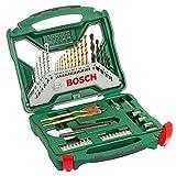 Bosch Maletín X-Line con 50 unidades para taladrar y atornillar (para madera, piedra...