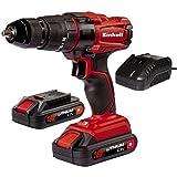 Einhell TC-CD 18-2 Li-i - Taladro de impacto sin cable, con cargador, 2 baterías 1.5...