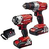 Einhell Expert TE-TK 18 Li Drill & Driver Kit- Atornillador con batería,...