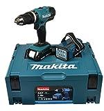 Makita DHP453RYLJ - Taladro inalámbrico (18 V, 1,5 Ah, incluye linterna...