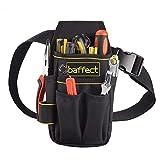 Baffect - Bolsa de herramientas de lona con cinturón de nailon ajustable, resistente...