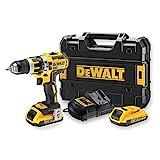 DeWalt DCD795D2-QW - Taladro Percutor a bateria sin escobillas XR 18V 13mm 60Nm con 2...