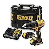 DEWALT DCD778S2T-QW - Taladro Percutor sin escobillas XR 18V, 13mm, 65Nm, incluye 2...