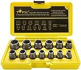 Juego de 13 piezas de extractor de tuercas dañados & extraer tornillos, juego de...