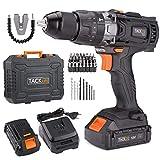 TACKLIFE Taladro Atornillador 18 V, 2 Velocidades Taladro con Percusión a Batería,...