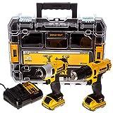 Dewalt DCK211D2T-QW DCK211D2T-QW-KIT 10,8V = Taladro Atornillador Impacto XR +...