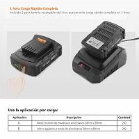 Baterías del taladro tacklife pcd04b 18v