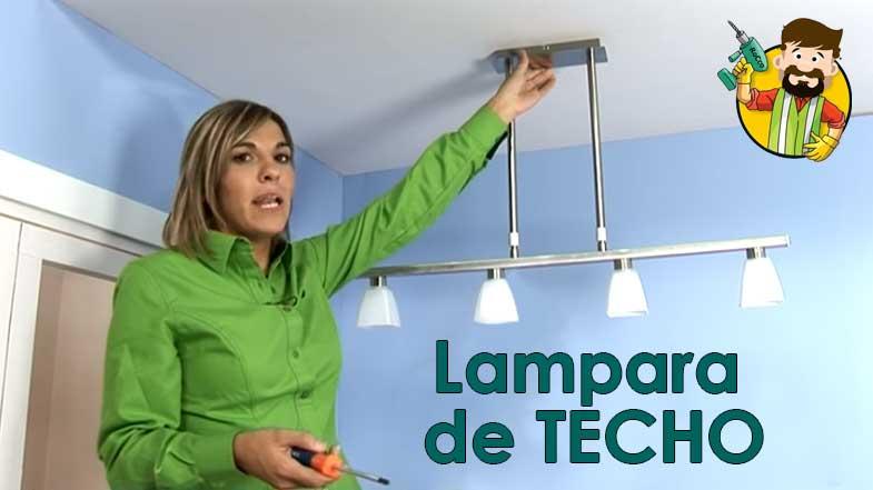 COMO INSTALAR LAMPARA DE TECHO